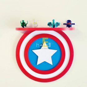 MiniDeco003 kệ treo tường hình khiên Captain America