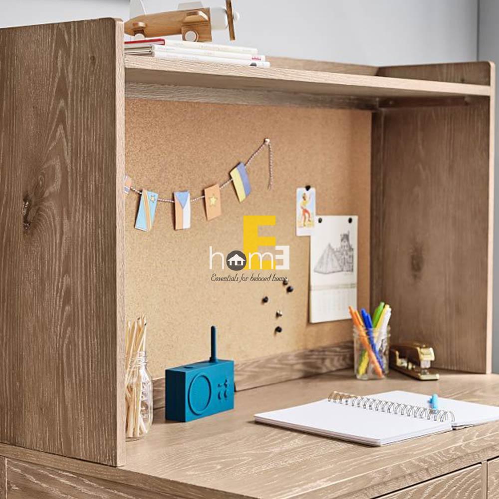 bàn học có ngăn tủ và bảng bần