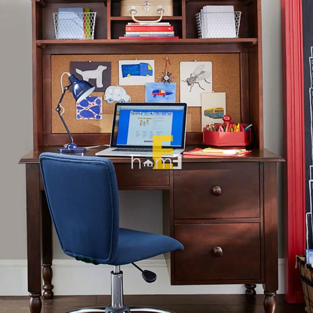 bàn học có ngăn kéo và bảng bần