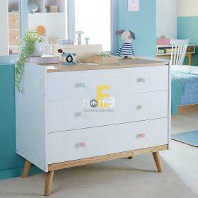 Tủ ngăn kéo KBC003 màu trắng