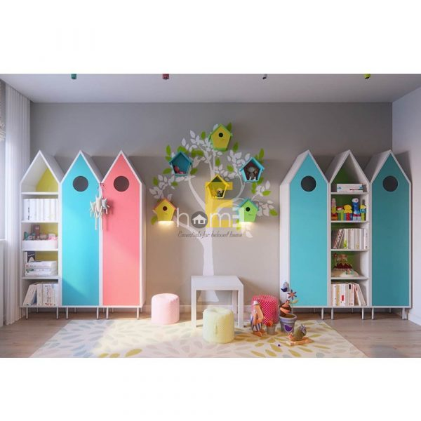 KBC011 Tủ đựng đồ trẻ em mô phỏng ngôi nhà