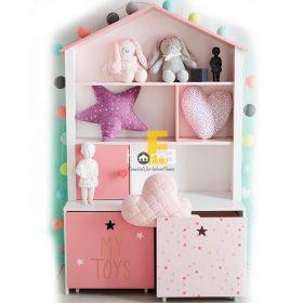 KTC001 - tủ kệ gỗ đựng đồ và sách vở cho các bé