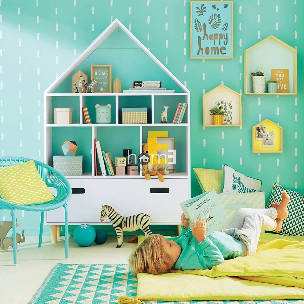 tủ kệ gỗ đựng sách và đồ đạc cho phòng ngủ các bé