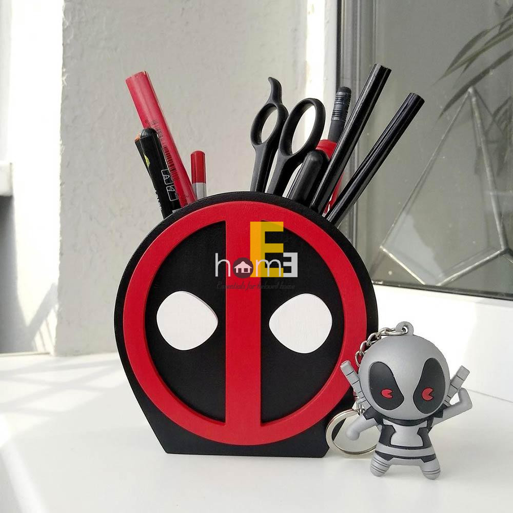 Hộp cắm bút gỗ MiniDeco030 hình Deadpool