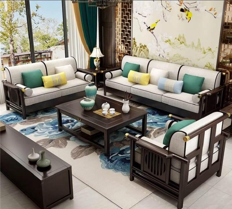 Mẫu bàn ghế phòng khách cổ điển Á Đông
