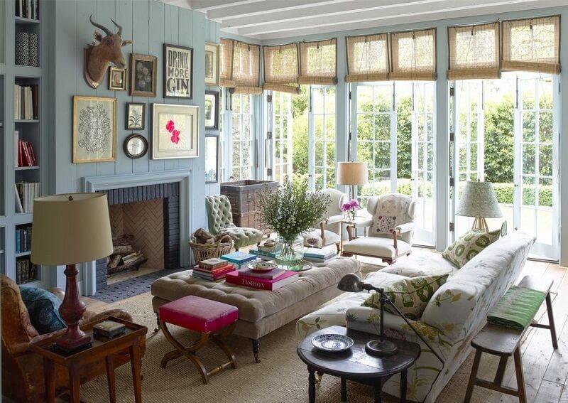 Mẫu bàn ghế gỗ phòng khách phong cách đồng quê