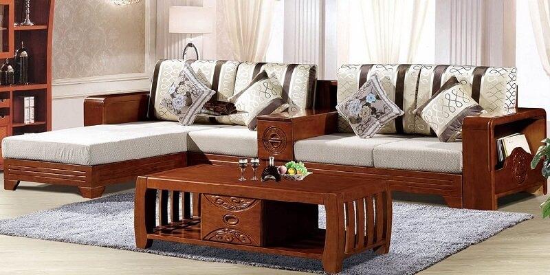 Bộ bàn ghế phòng khách hình chữ L