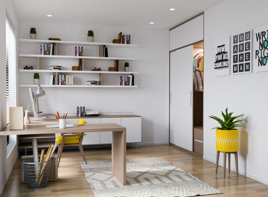 Thiết kế và trang trí phòng làm việc tại nhà đẹp mắt, hợp phong thủy