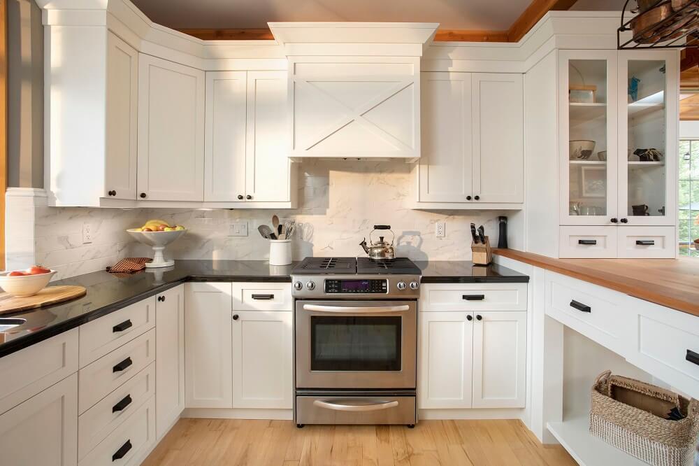 tủ bếp đẹp còn góp phần trang trí cho không gian nội thất bếp nấu gia đình