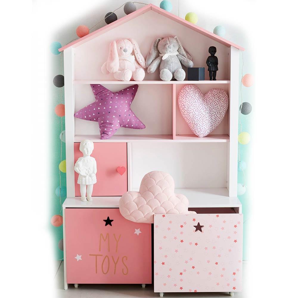 Mách mẹ chọn 5 mẫu tủ quần áo gỗ hồng ngọt ngào cho con gái yêu